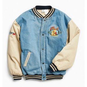 ✨ Vintage Winnie The Pooh Denim Varsity Jacket ✨